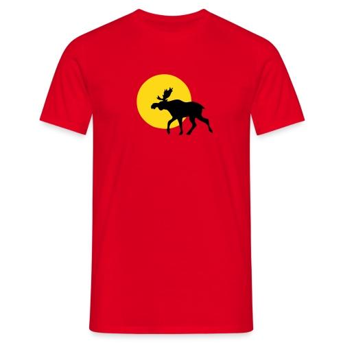 Rot Elch Sonne - Männer T-Shirt