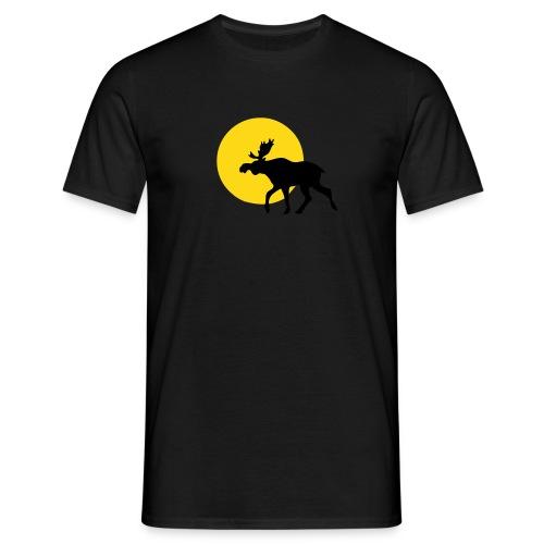 Schwarz Elch Sonne - Männer T-Shirt