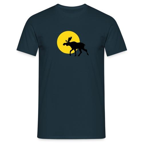 Marine Elch Sonne - Männer T-Shirt