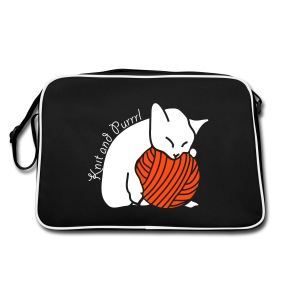 Retro Bag - katzen,stricken,wolle