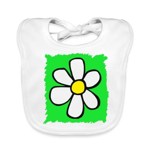 Bib - Happy Daisy Logo - Green - Baby Organic Bib