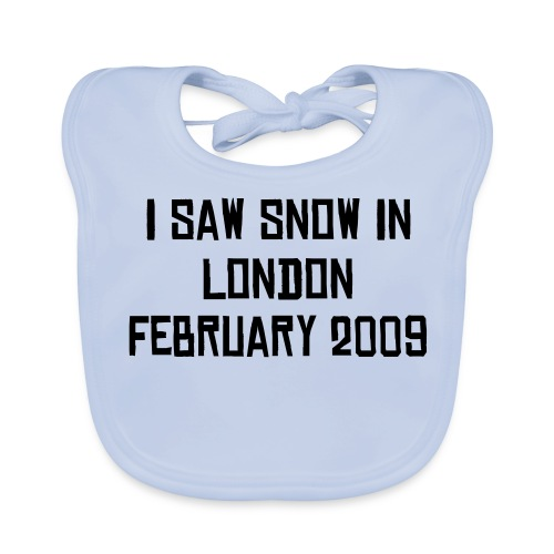 Mens It Snowed In London Classic T-Shirt - Baby Organic Bib