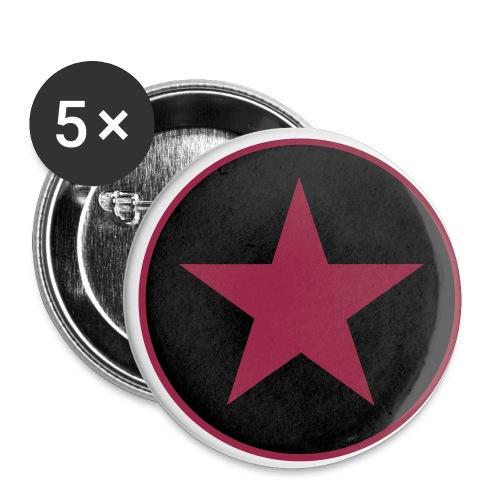 Star Anstecker - Buttons klein 25 mm