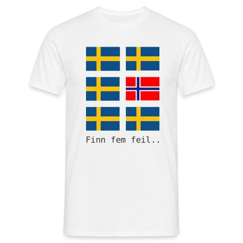 Finn fem feil.. - T-skjorte for menn