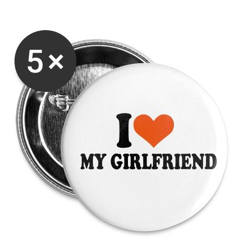 I'love my girlfriend - Badge moyen 32 mm