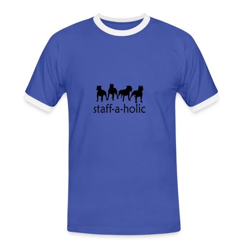 Staff-a-holic Men's ringer t-shirt - Men's Ringer Shirt