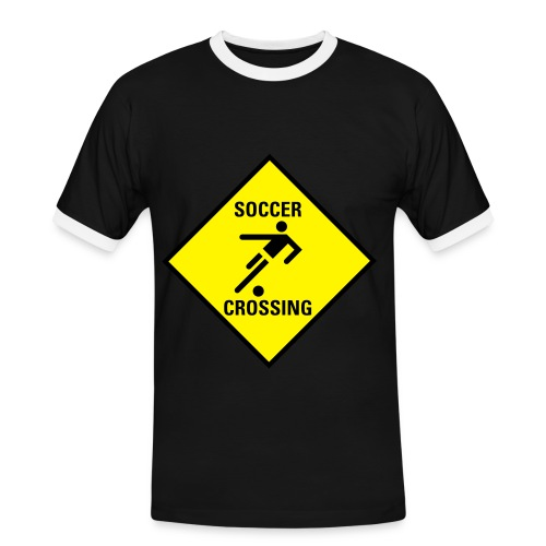 tshirt soccer crossing - Men's Ringer Shirt
