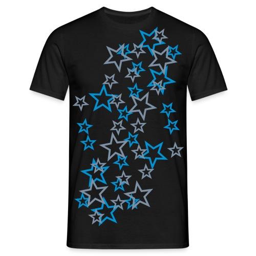 year:house T-shirt - Blå+Sølv stjerner - Herre-T-shirt