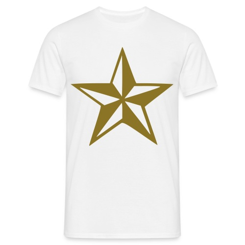 year:house T-shirt - Guld stjerne - Herre-T-shirt