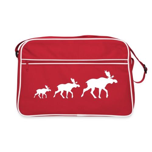 Drei Elch rot - Retro Tasche