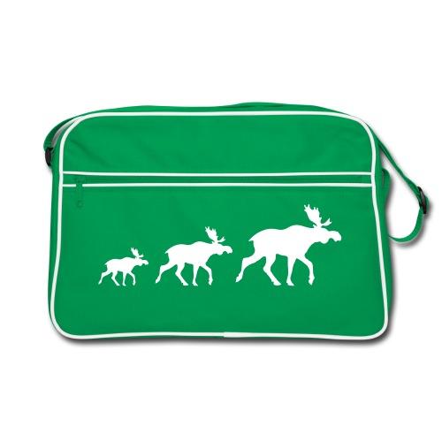 Drei Elch braun - Retro Tasche