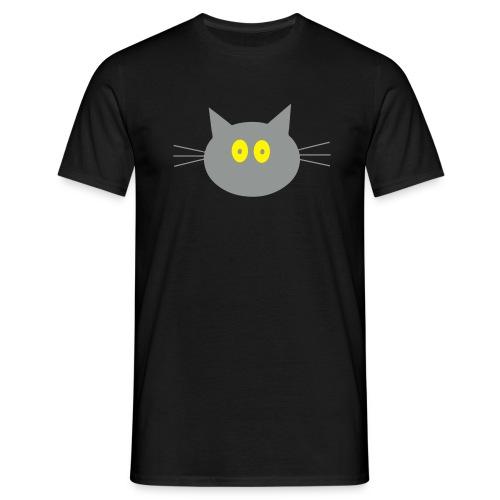 Katze - schwartz - Männer T-Shirt