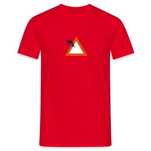 Skispringen - rot - Männer T-Shirt