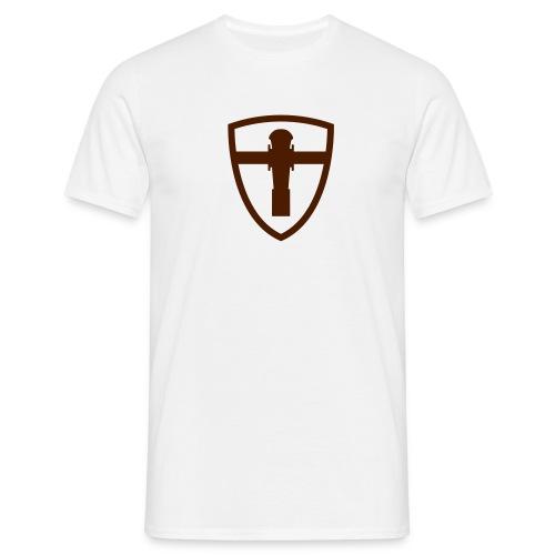 FooSbalL T-shirt brown logo - Koszulka męska