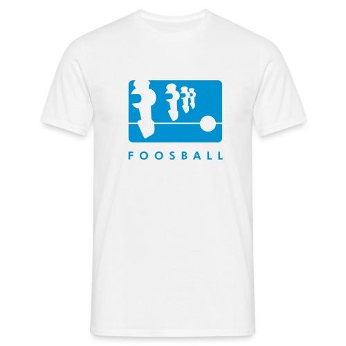 FoosBalL T-shirt blue logo - Koszulka męska