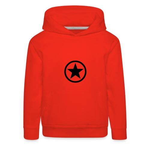 Star, Hood (black) - Kids' Premium Hoodie