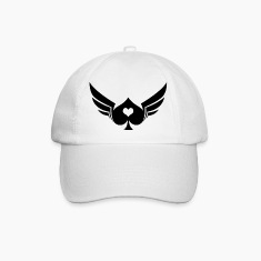 White/white Poker Wings Caps & Hats