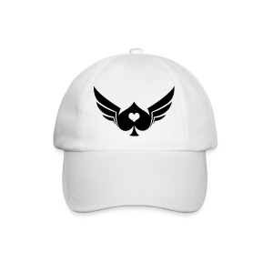 Poker Wings Baseball Cap White - Baseball Cap