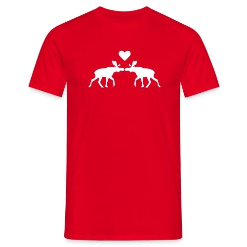 Elchliebe - rot - Männer T-Shirt