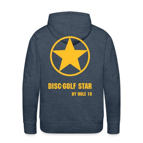 Disc-Golf Star [Marron/Or] - Sweat-shirt à capuche Premium pour hommes