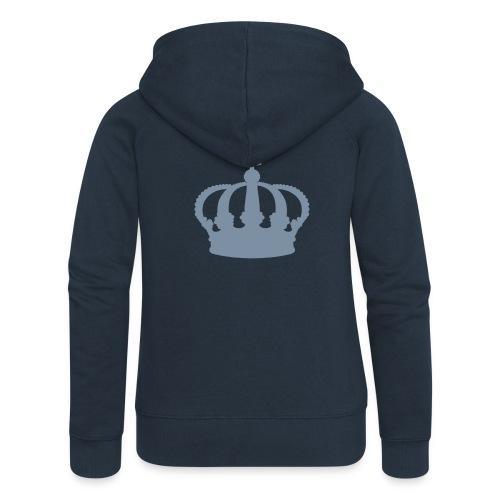 Crown, ZippHood (silver) - Women's Premium Hooded Jacket