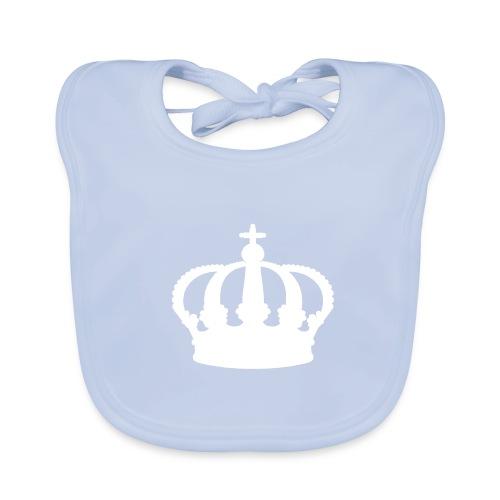 Crown, Babybib (silver) - Baby Organic Bib