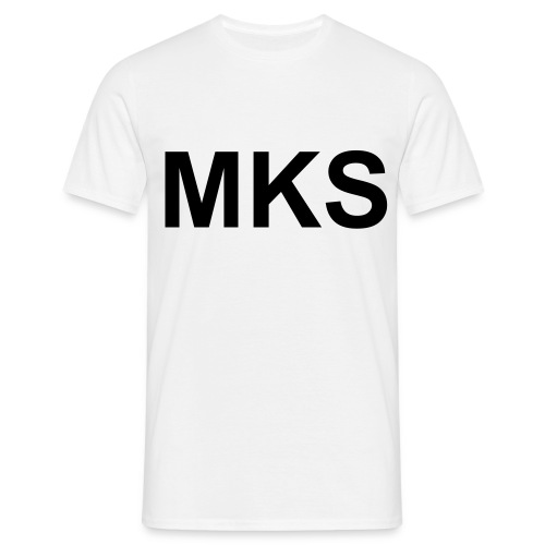 T-shirt homme blanc MKS  - T-shirt Homme
