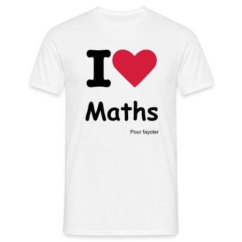 I love MATHS - T-shirt Homme
