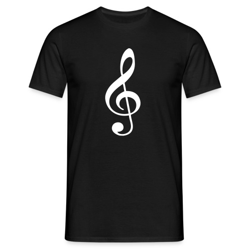 Treble Clef T-Shirt - Men's T-Shirt
