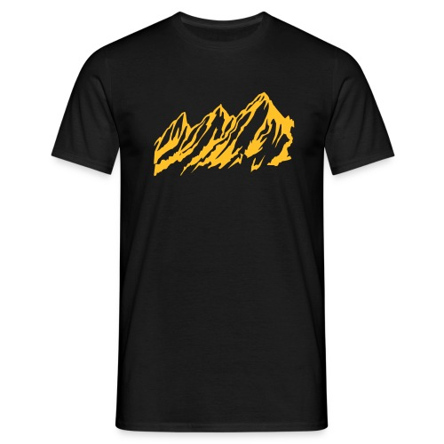 Mountains - black - Mannen T-shirt