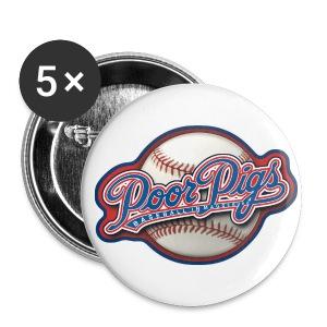 mpp Fan-Buttons / Pins 25mm 5er-Pack - Buttons klein 25 mm