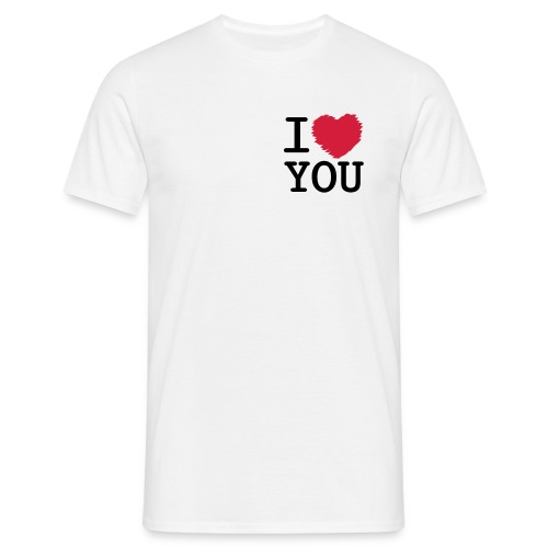 I Love u-Tshirt - Men's T-Shirt