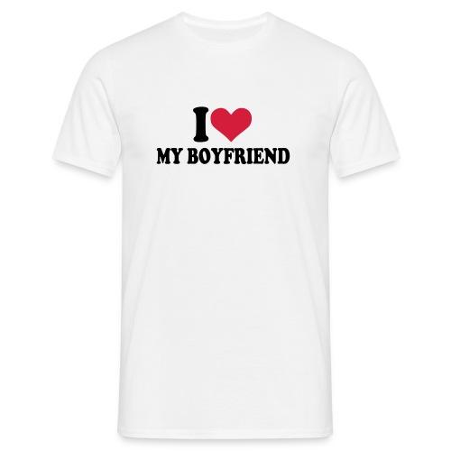I love my Boyfriend Men's Tshirt - Men's T-Shirt