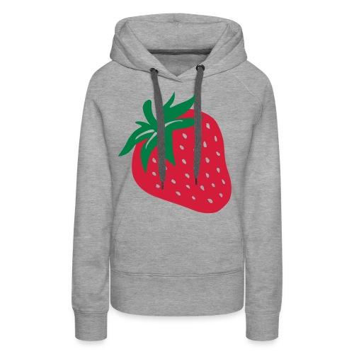 aarbei meisjes (cha) - Vrouwen Premium hoodie