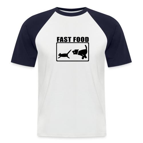t shirt fast food  - Maglia da baseball a manica corta da uomo