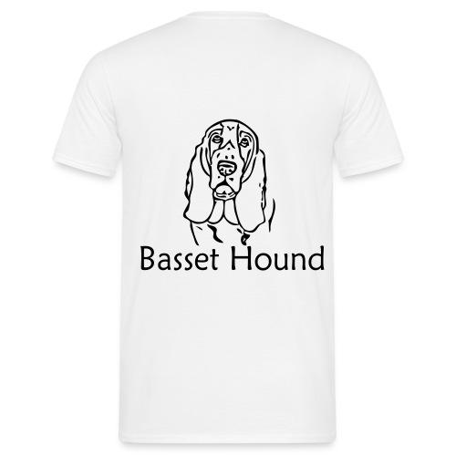 basset t-shirt herr - T-shirt herr