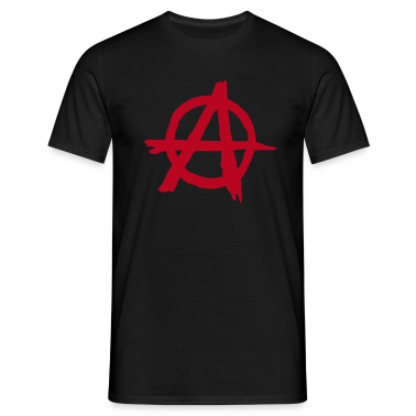 Black Anarchy Men's Tees