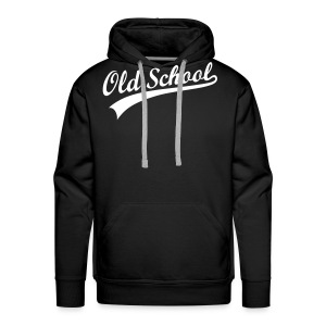 old school- zwart - Mannen Premium hoodie