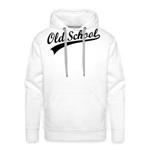old school- wit - Mannen Premium hoodie