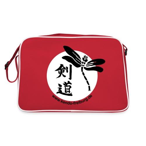 Retro Tasche - Umhängetasche mit Logo und Web-Adresse