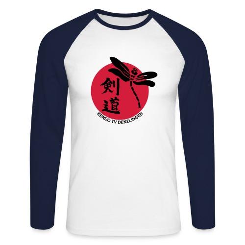 Männer Baseballshirt langarm - Logo mit Verein