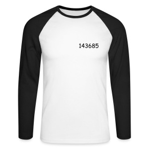 143685-men's raglan long sleeve - Men's Long Sleeve Baseball T-Shirt