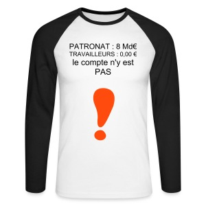 t-shirt 8md€ - T-shirt baseball manches longues Homme