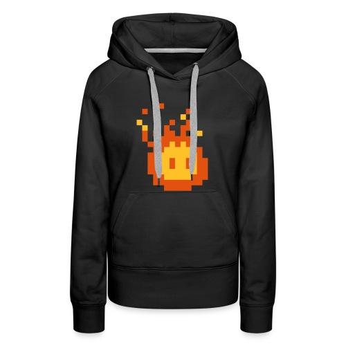 Retro Fireball - Frauen Premium Hoodie