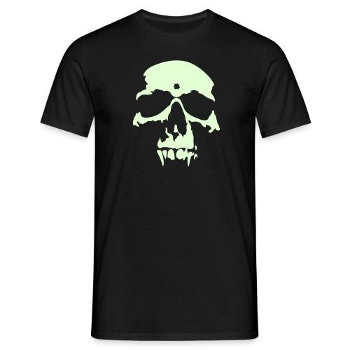 Självlysande döskalle - T-shirt herr