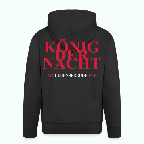 KÖNIG DER NACHT - Men's Premium Hooded Jacket