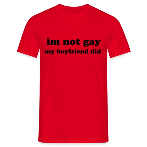 Gay Humour - Men's T-Shirt