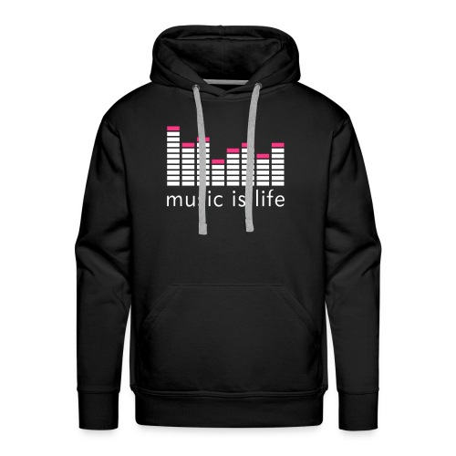MUSIC IS LIFE Men's Hooded Sweatshirt - Men's Premium Hoodie