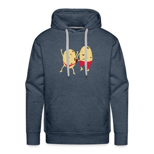 POTATO WEDGIES Men's Hooded Sweatshirt - Men's Premium Hoodie