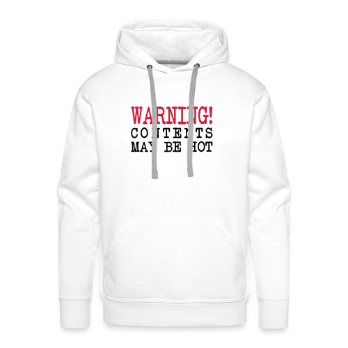 CONTENTS WARNING Men's Hooded Sweatshirt - Men's Premium Hoodie